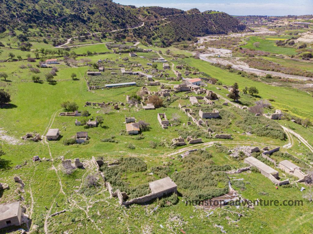 Dorf Souskiou von oben