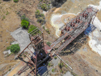 Mitsero Mine Lost Place von oben